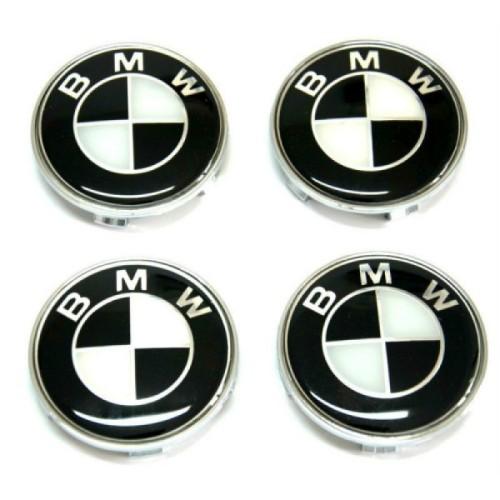 Embleme jenti BMW alb negru 68mm