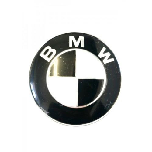 Emblema BMW alb negru 82 mm