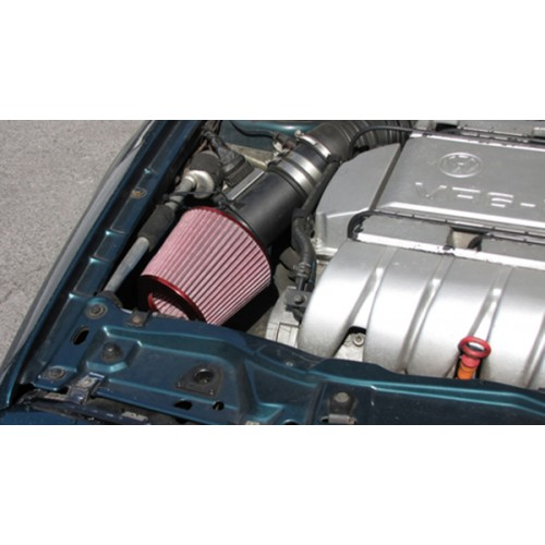 Filtru aer sport conic universal rosu cu adaptoare 60/65/70MM