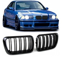 Grile duble negre BMW Seria 3 E36 Facelift 96-99