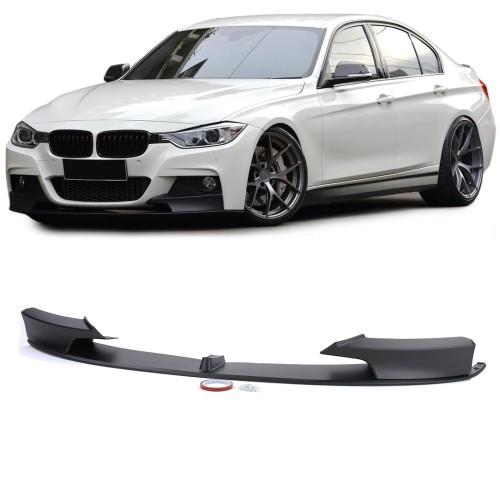 Lip/prelungire bara fata BMW seria 3 F30 F31 F35 M-Performance negru mat