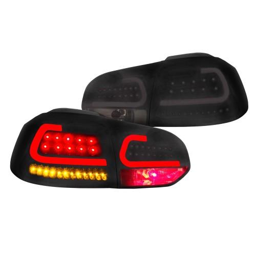 Stopuri LED-uri cu semnalizari dinamice - VW Golf 6 - Negru