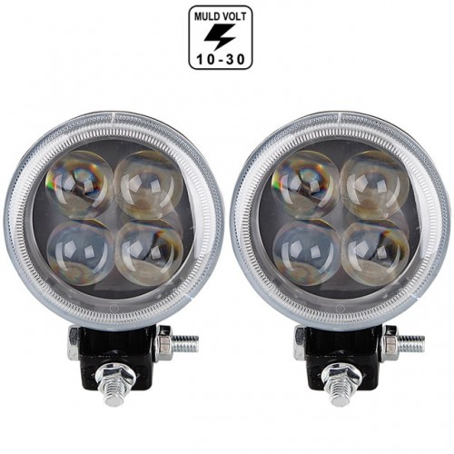 Proiector LED 12W SPOT 4D cu angel eyes 12/24V