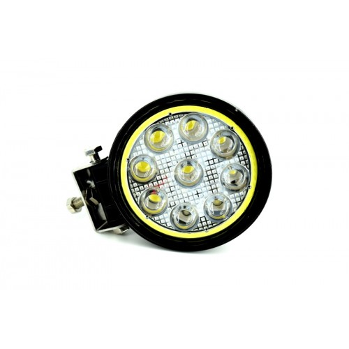 Proiector LED CH07-02 rotund 27W cu angel eyes Spot Beam 30° 12/24V