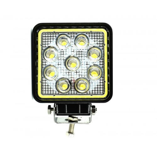 Proiector LED CH07-02 patrat 27W cu angel eyes Spot Beam 30° 12/24V