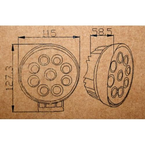 Proiector LED CH07-02 rotund 27W cu angel eyes Spot Beam 30° 12/24V
