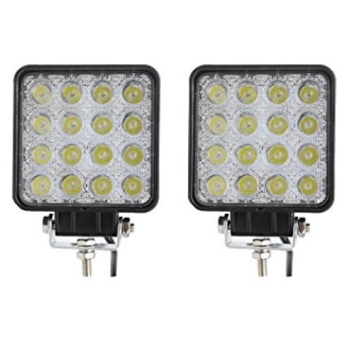 Proiector LED auto  48W 12V-24V,patrat, spot beam 30°